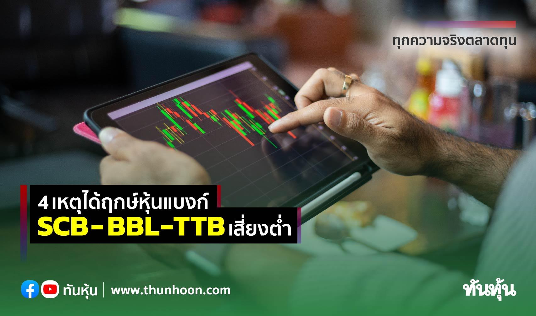 4เหตุได้ฤกษ์หุ้นแบงก์ SCB- BBL-TTBเสี่ยงต่ำ