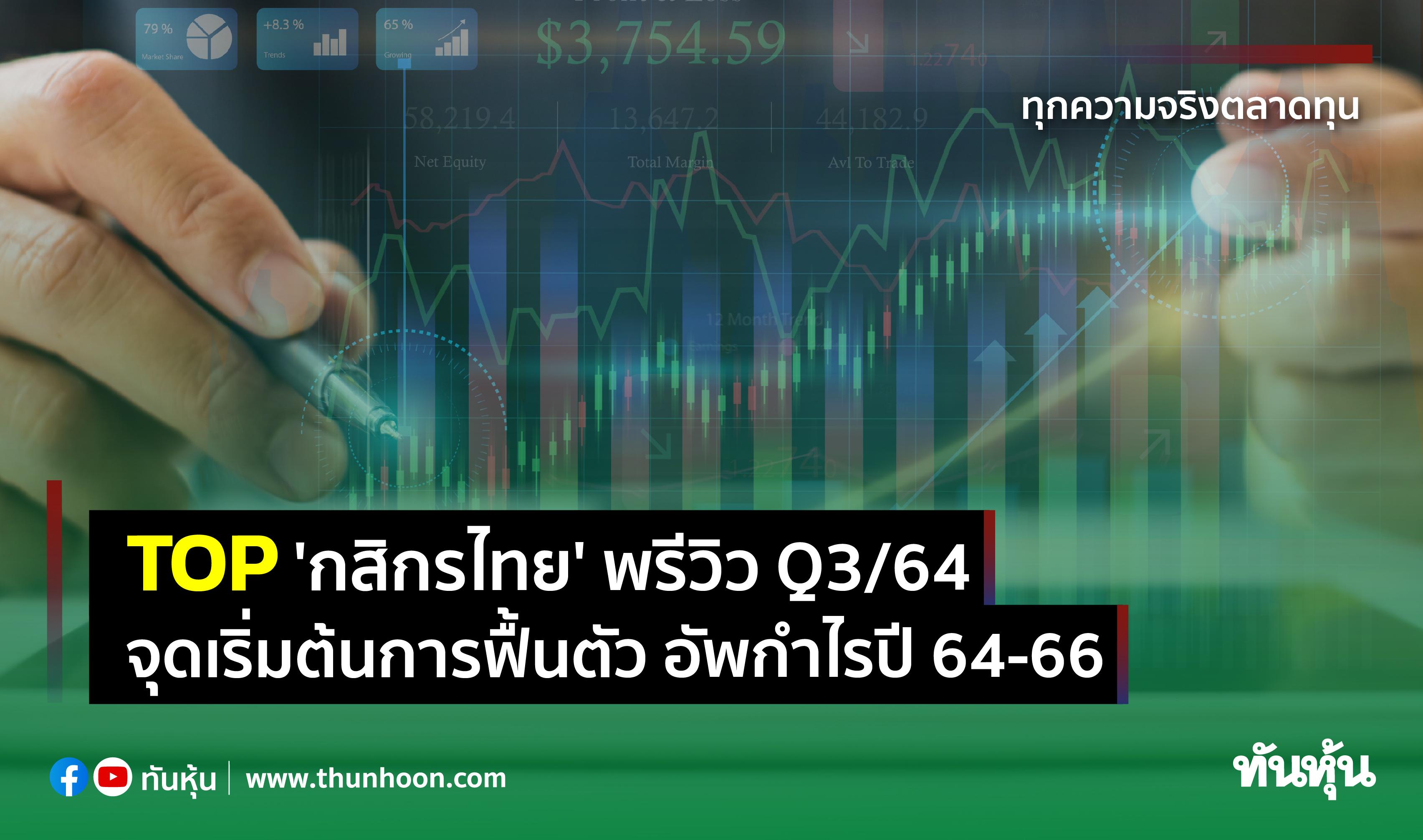 TOP 'กสิกรไทย' พรีวิว Q3/64 จุดเริ่มต้นการฟื้นตัว อัพกำไรปี 64-66
